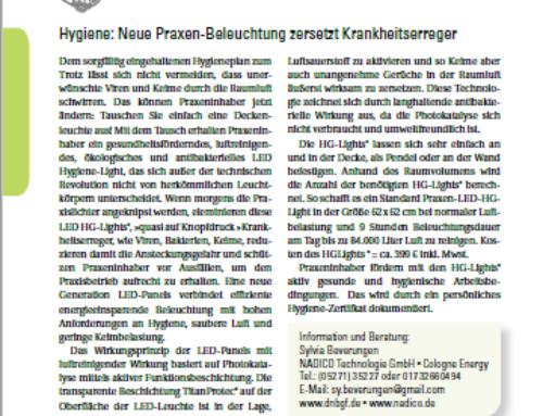 """""""Der Heilpraktiker"""" über luftreinigende LED Panel als Praxisbeleuchtung"""