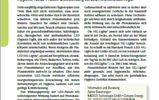 """""""Der Heilpraktiker"""" berichtet über unsere luftreinigende LED Panel als Praxisbeleuchtung"""